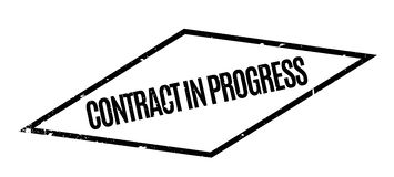 Contract In Progress rubber stamp Stock Photography