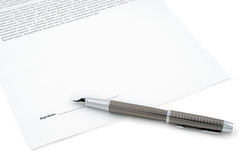 Contract ready for signature Royalty Free Stock Photos