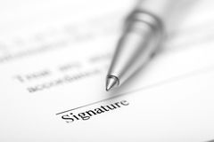 Contract ready for signature Royalty Free Stock Image