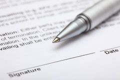 Contract ready for signature Royalty Free Stock Photo