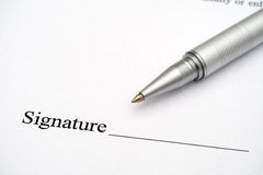 Contract ready for signature Stock Photography
