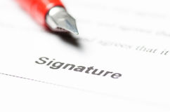 Contract ready for signature Royalty Free Stock Images