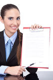 Contract ready  for signing Stock Photos