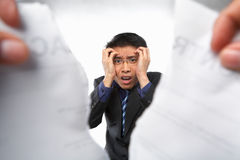 Contract refusal or rejection. With stress Chinese businessman as main focus Stock Images