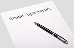 Contract rental agreement Royalty Free Stock Photo