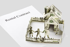 Contract rental homes Stock Photo