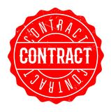 Contract rubber stamp Stock Photo