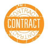 Contract rubber stamp Royalty Free Stock Image