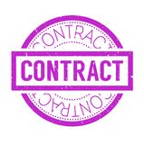 Contract rubber stamp Stock Photos