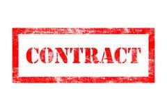 Contract rubberzegel vector illustratie