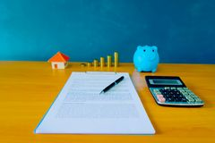 Contract for the sale of a New Home lorem ipsum - fake text. Contract for the sale of a New Home stock photos