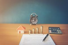 Contract for the sale of a New Home lorem ipsum - fake text. Contract for the sale of a New Home stock photography