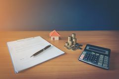 Contract for the sale of a New Home lorem ipsum - fake text. Contract for the sale of a New Home stock images