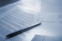 Contract series Royalty Free Stock Image