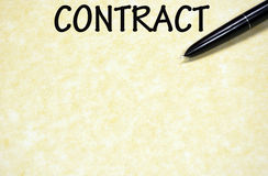Contract sign Royalty Free Stock Photography