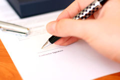 Contract signature Royalty Free Stock Image