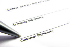 Contract signature Royalty Free Stock Photo