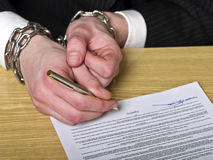 Contract signing Stock Photography
