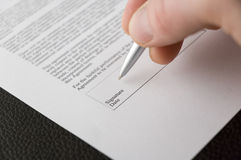 Contract signing Royalty Free Stock Photography