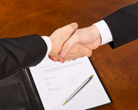 Contract signing Stock Photos