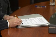 Contract signing 5 Royalty Free Stock Images