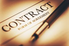 Contract Signing Concept Royalty Free Stock Photography