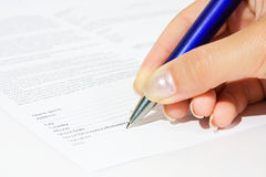 Contract signing. Finance abstraction. Stock Photo