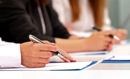 Contract signing royalty free stock photos