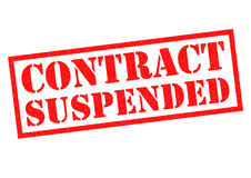 CONTRACT SUSPENSION Royalty Free Stock Images