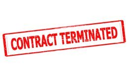 Contract terminated. Rubber stamp with text contract terminated inside,  illustration Royalty Free Stock Photos