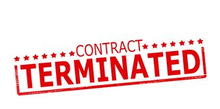 Contract terminated. Rubber stamp with text contract terminated inside,  illustration Stock Image
