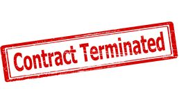 Contract terminated. Rubber stamp with text contract terminated inside,  illustration Royalty Free Stock Image