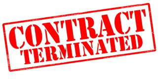 Contract terminated. Rubber stamp with text contract terminated inside,  illustration Stock Photography