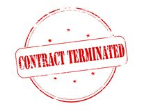 Contract terminated. Rubber stamp with text contract terminated inside,  illustration Stock Photo