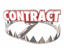 Contract Terms Conditions Bear Trap Danger Word Royalty Free Stock Image