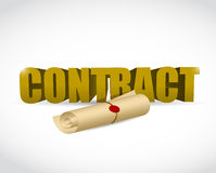 Contract text and document illustration design Stock Photos