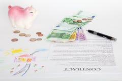 Contract van van de huisverkoop of hypotheek documenten Royalty-vrije Stock Foto