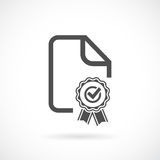 Contract vector icon royalty free illustration