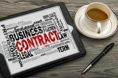 Contract word cloud Royalty Free Stock Photography
