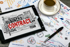Contract word cloud Stock Photos