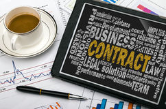 Contract word cloud Stock Images