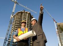 Contractant en Voorman Stock Foto
