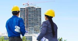 Contractanten en de bouw projecten stock afbeelding