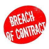 Contractbreuk rubberzegel Stock Foto's