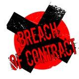 Contractbreuk rubberzegel Stock Foto