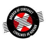 Contractbreuk rubberzegel Stock Fotografie