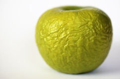 Contracted green dry apple Royalty Free Stock Photos