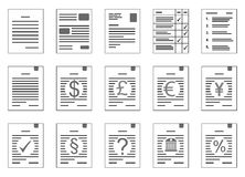 Contracten met muntrisico en andere klemarts. Stock Fotografie