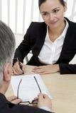 Contracthandtekening Stock Fotografie