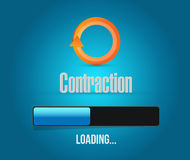 Contraction loading bar illustration Stock Image